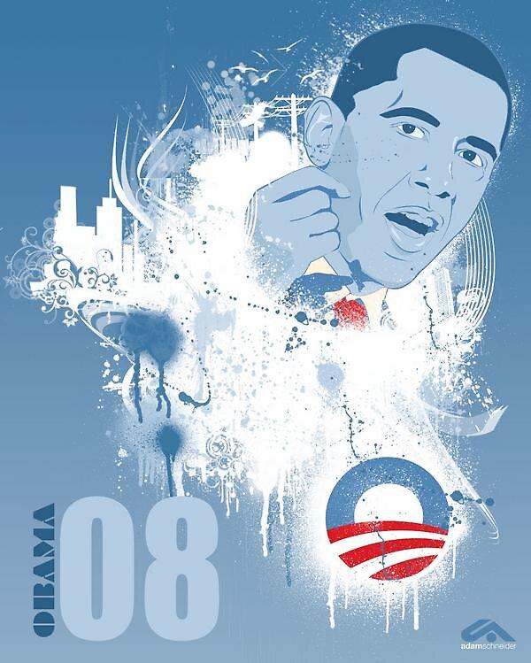Obama 08 by AdamSchneider