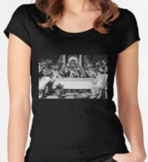 The Last Cretaceous Supper Women's Fitted Scoop T-Shirt