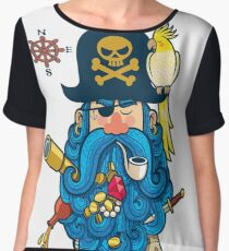 Pirate Portrait Chiffon Top