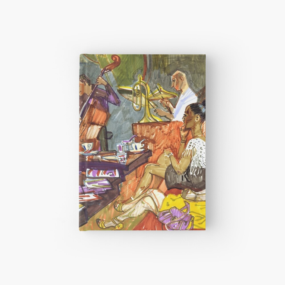 Jazz evening Hardcover Journal