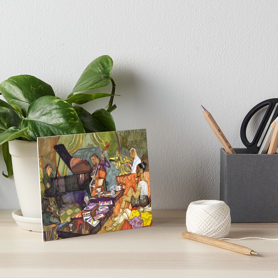 Jazz evening Art Board Print