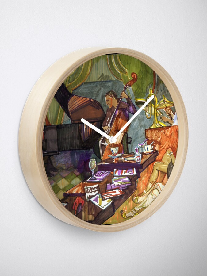Alternate view of Jazz evening Clock