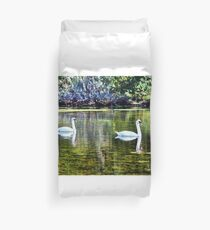 Swans At The Lake Duvet Cover