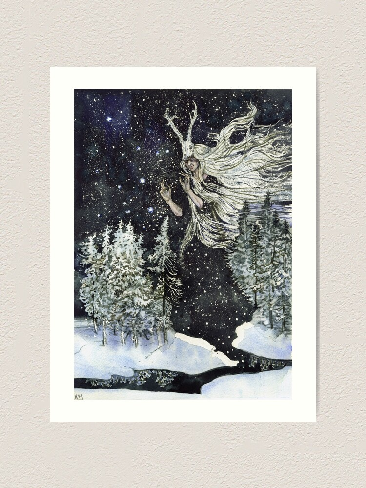 Alternate view of winter witch Art Print