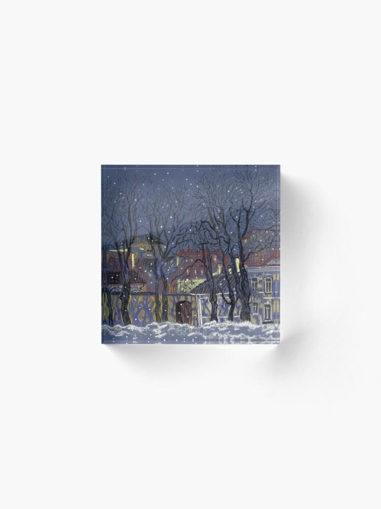 Alternate view of Winter Vilnius Acrylic Block