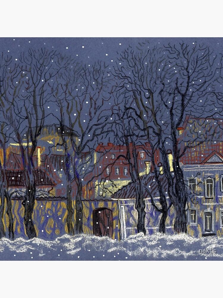 Winter Vilnius by naktis