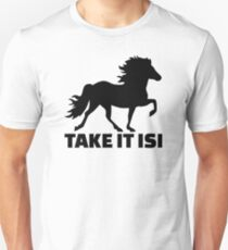 Nimm es Isi Islandpferd Slim Fit T-Shirt