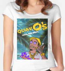 Quavo's Cereal Beach Blue Women's Fitted Scoop T-Shirt