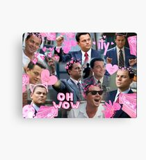 Leonardo DiCaprio Collage  Canvas Print