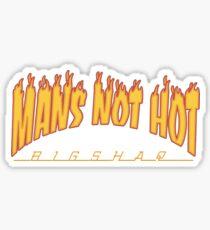 big shaq roadman shaq mans not hot fire logo Sticker
