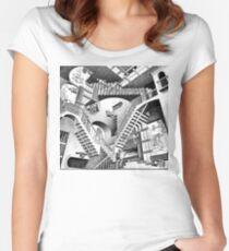 Camiseta entallada de cuello redondo Escher Staircases