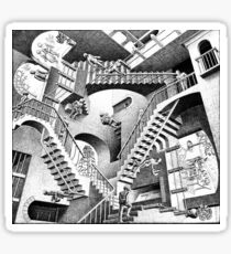 Escher Staircases Sticker