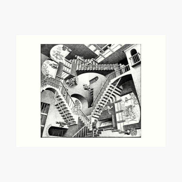 Escher Staircases Lámina artística