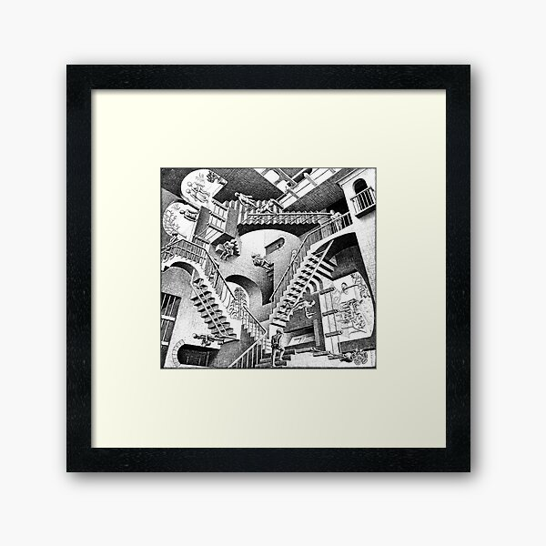 Escher Staircases Framed Art Print