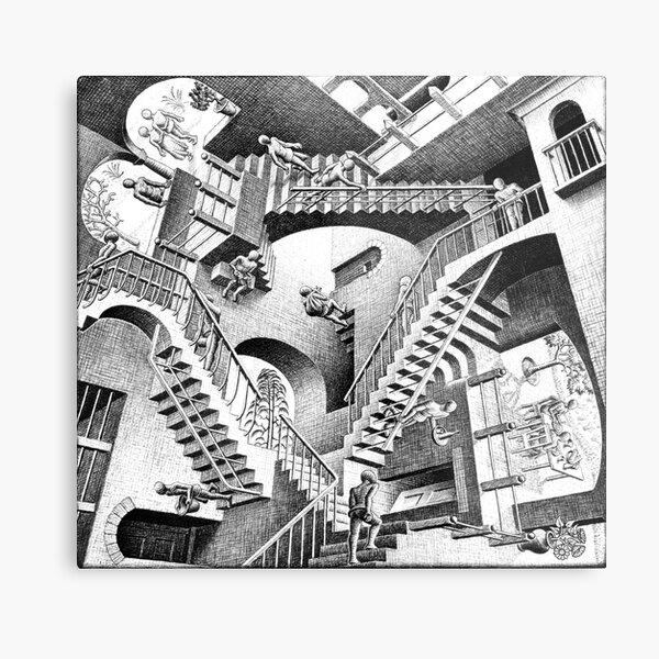 Escher Staircases Metal Print