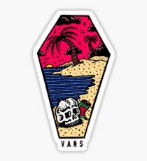 Vans Beach Sunset Sticker