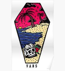 Vans Beach Sunset Poster
