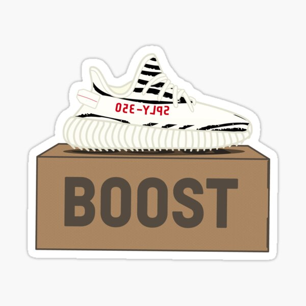 Yeezy Boost 350 V2 | Zebra White Black Red Box Sticker