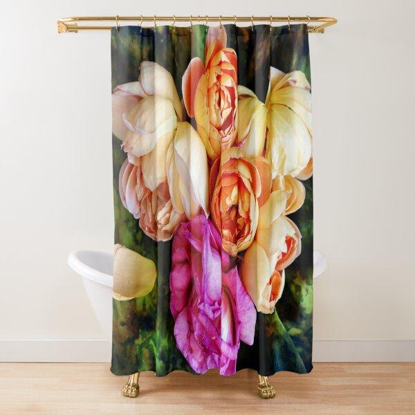 Blushing Roses Shower Curtain
