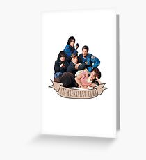 the breakfast club banner Greeting Card