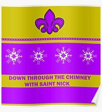 Saints Christmas Jumper Poster