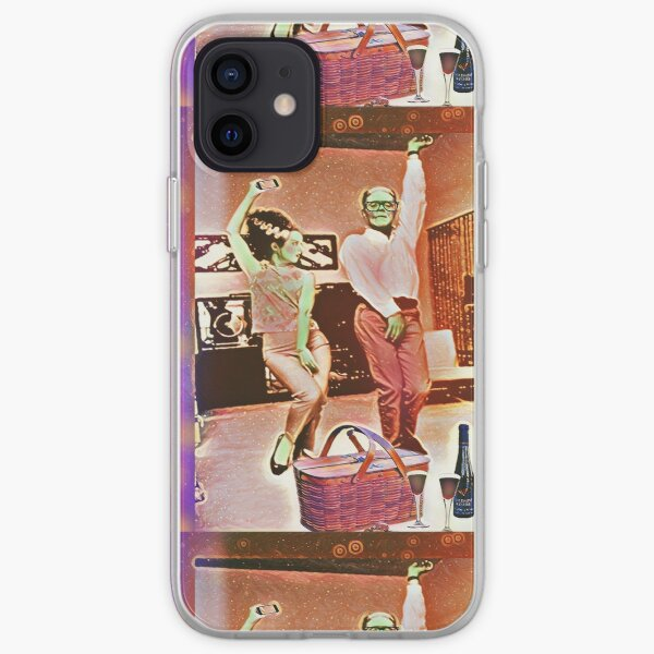 Frankenstein and his Bride rock the evening away iPhone Soft Case