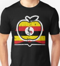 Super Teacher Uganda Flag T-Shirt