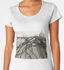 Barbed Wire Fence in Illinois Women's Premium T-Shirt