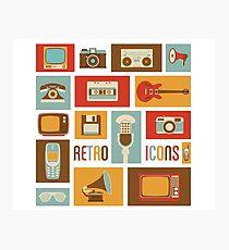 Retro Icons Photographic Print