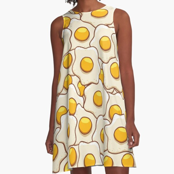 Fried Eggs Background Seamless 2 A-Line Dress