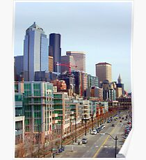 Seattle Alaskan Way  Poster