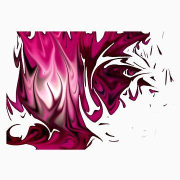 Pink Flames by Blackf3lla