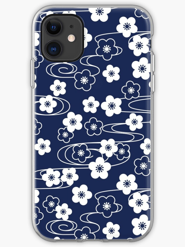 Blue Cherry Blossoms iPhone 11 case