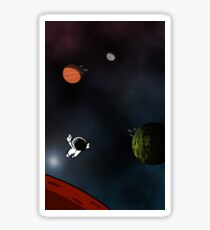 Lost In A Space Symphony - Vertical Sticker