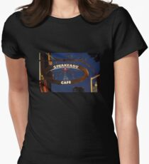 Iron Cafe Sign Women's Fitted T-Shirt