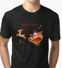 "Navidad 3 y texto - ""Cathy and the Cat"" Tri-blend T-Shirt"