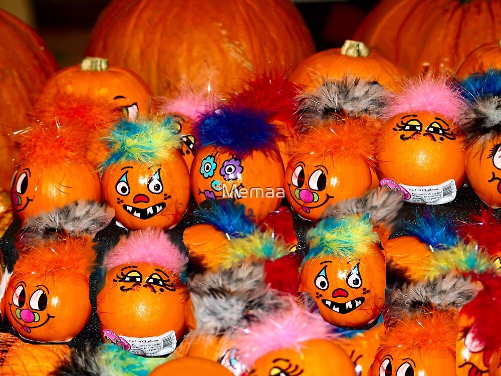 Happy Halloween Pumpkins by Memaa