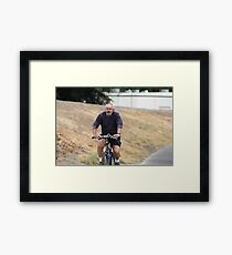 Cyclist Framed Print