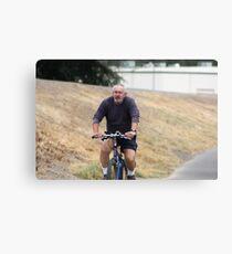 Cyclist Metal Print