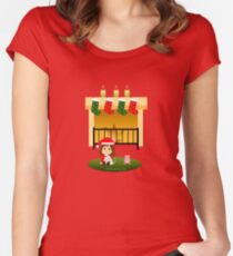 "Navidad 4 - ""Cathy and the Cat"" Women's Fitted Scoop T-Shirt"