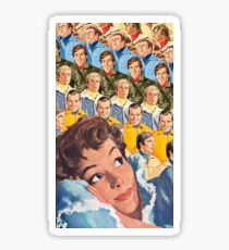 Recurring Dream - vintage magazine collage Sticker
