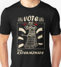 Vote No On Dalek Stop Exterminate T-Shirt