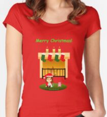 "Navidad 4 con texto - ""Cathy and the Cat"" Women's Fitted Scoop T-Shirt"