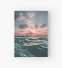 Pink Sunset and Blue Ocean Horizon Hardcover Journal