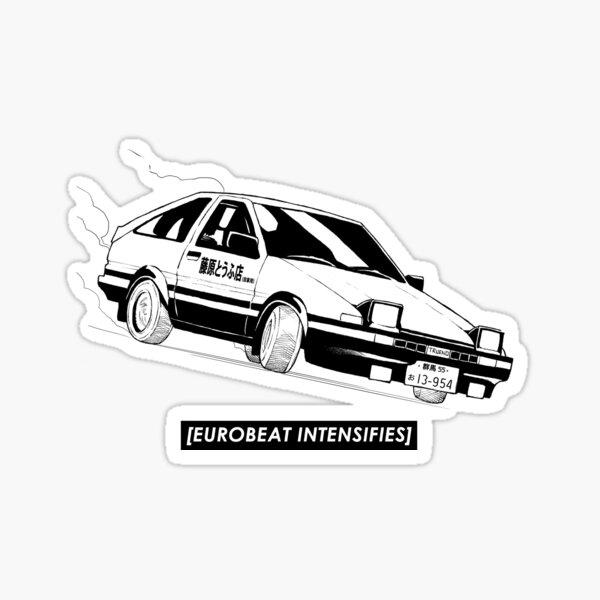 Eurobeat intensifie la voiture AE86 Kansei Dorifto Initial D Sticker