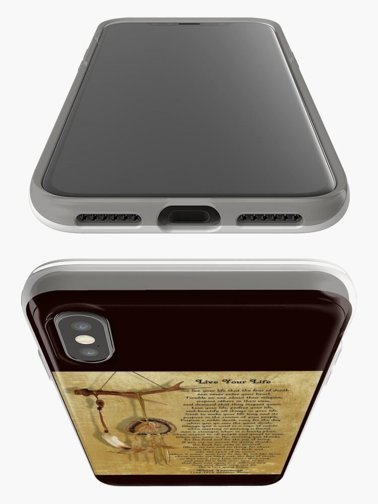 """Alternative Ansicht von """"Lebe dein Leben"""" von Chief Tecumseh Traumfänger iPhone-Hüllen & Cover"""