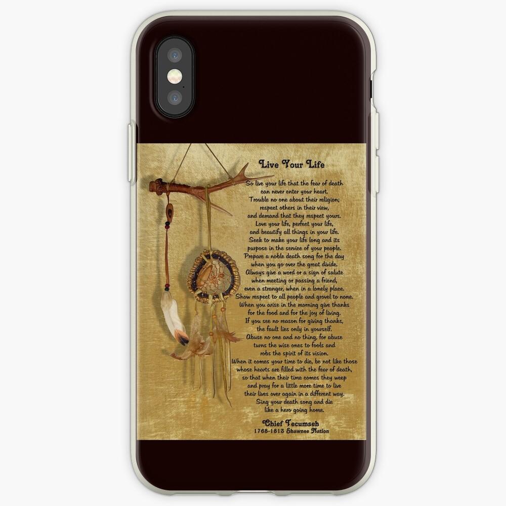 """""""Lebe dein Leben"""" von Chief Tecumseh Traumfänger iPhone-Hüllen & Cover"""