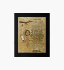 """""""Live Your Life""""  by Chief Tecumseh dream catcher Art Board"""