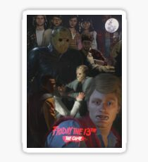 Friday The 13th: The Game Poster - Fanmade Sticker