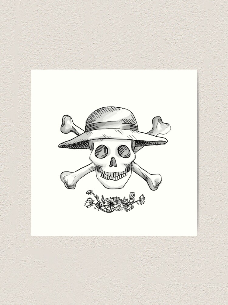 Realistic Jolly Roger Monkey D Luffy Art Print